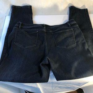 j jill Dark Blue Jeans Slim Fit